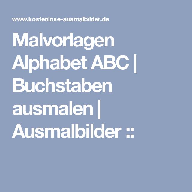 malvorlagen alphabet abc  buchstaben ausmalen