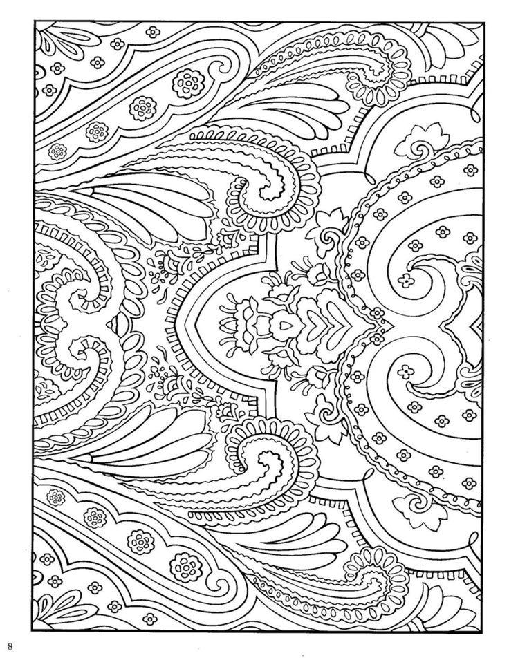 Nice Design Coloring Book 7 Paisley Designs Coloring Book