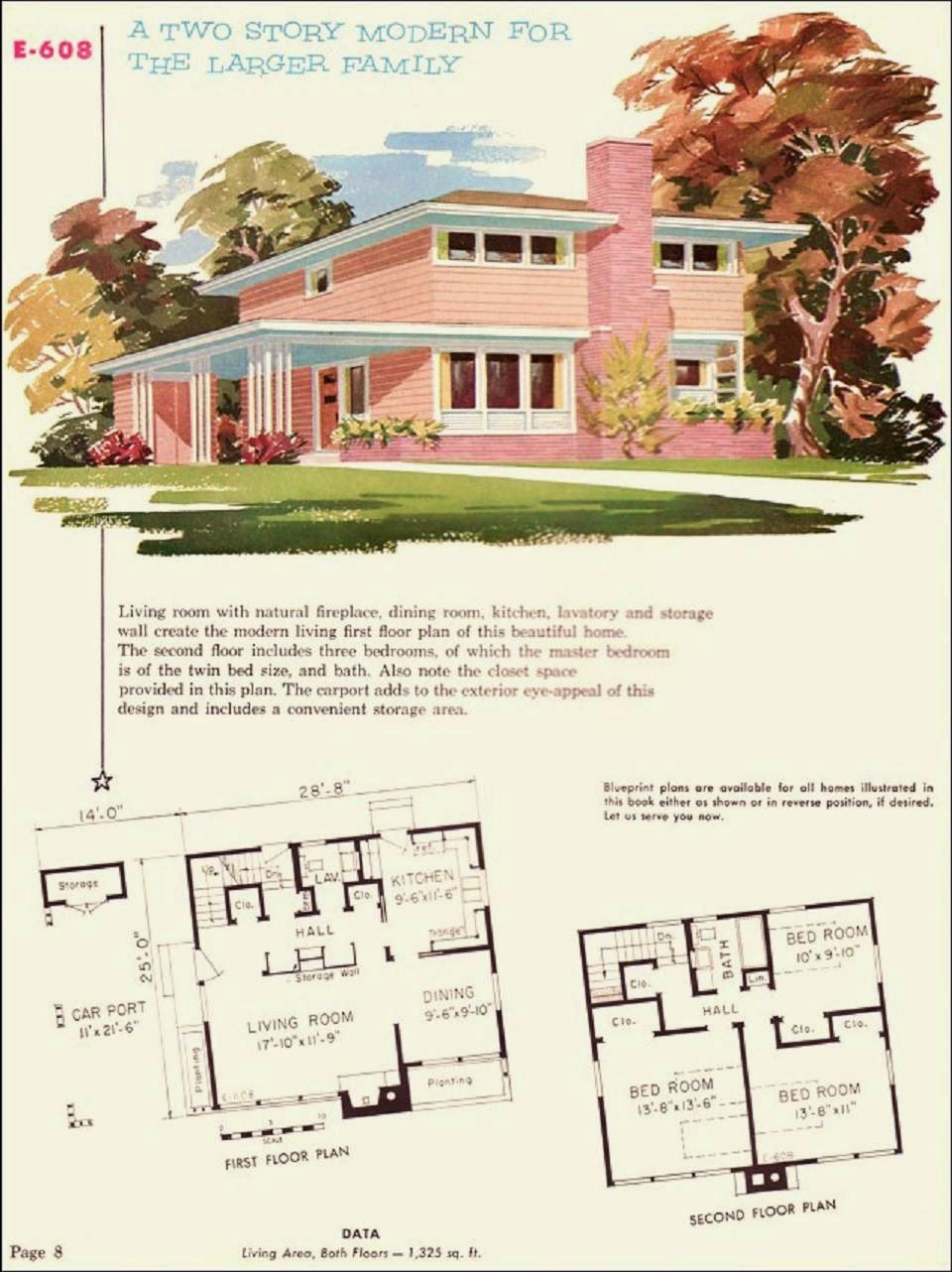 ~ Mid Century Homes... The pink two story... | Mid century ...