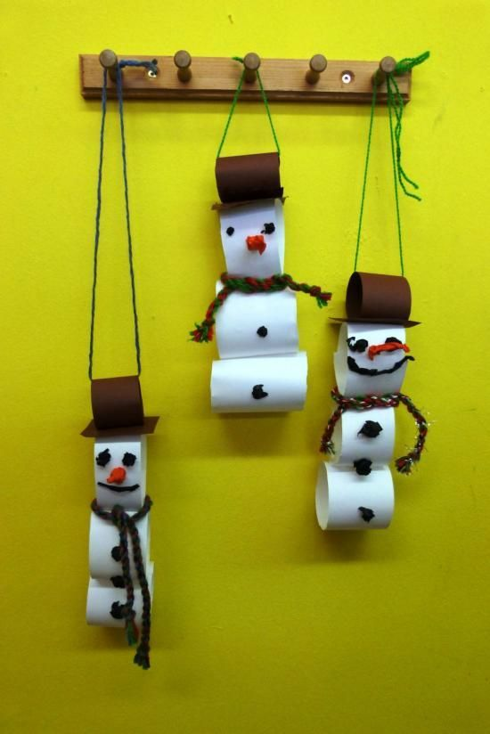 Photo of Snowman made from toilet paper roll: Image 3