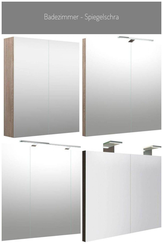 Badezimmer Spiegelschrank Purina 02 Farbe Eiche Grau 70 X 60