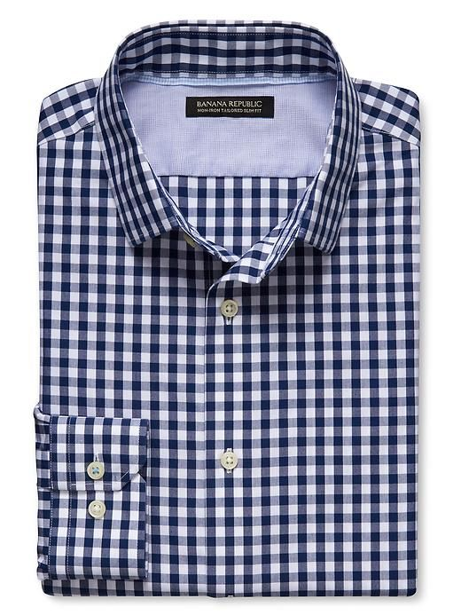 Grant-Fit Non-Iron Blue Gingham Shirt