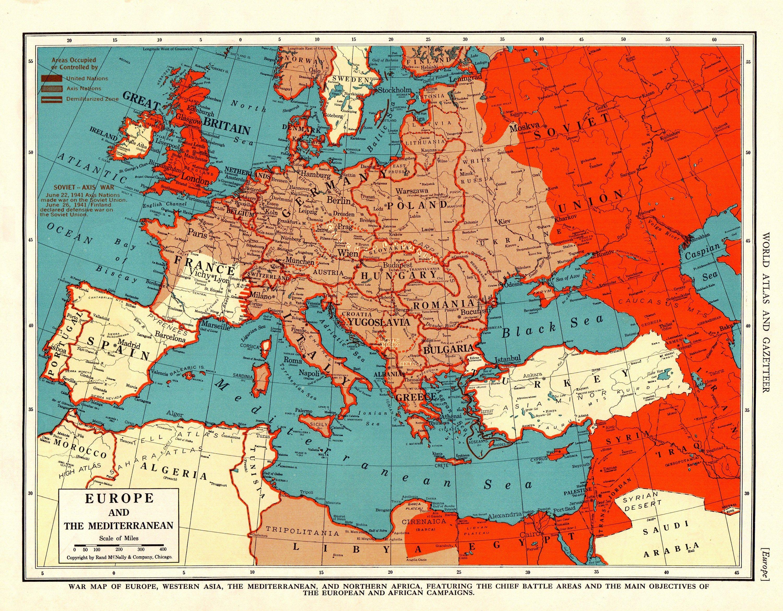 World Map Mediterranean