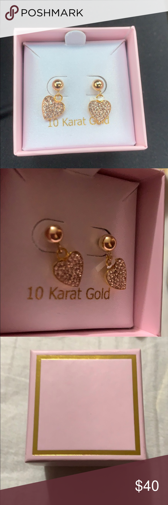 10 Karat Gold Earrings Nwt Gold Earrings 10 Things Gold