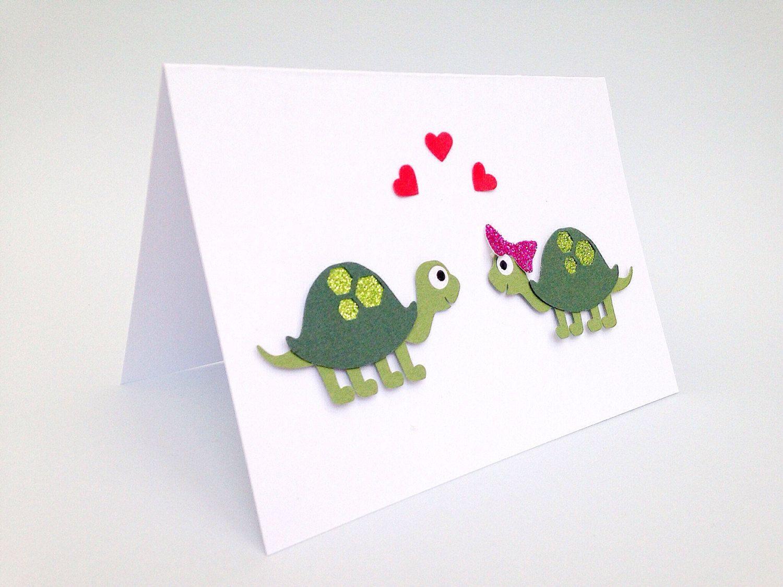 Turtle valentines card cute turtle valentines card tortoise