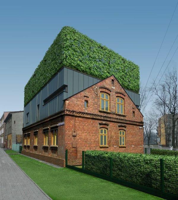 Le toit v g tal en 77 photos architecture toit vegetal architecture extension et architecture - Immeuble vegetal ...
