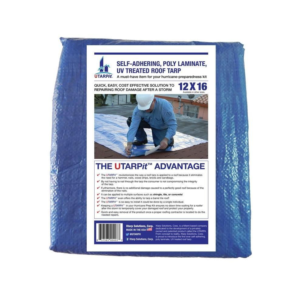 Utarpit 6 Ft X 8 Ft Blue Roofing Tarp Bt0608 The Home Depot Blue Depot Home Roofing Tarpbt0608 Utarpit In 2020 Tarps Blue Roof Roofing