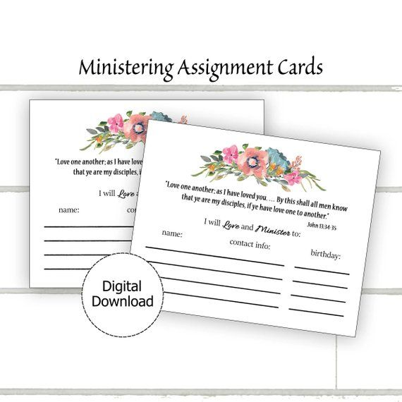Ministering Assignment Card Printable | Products