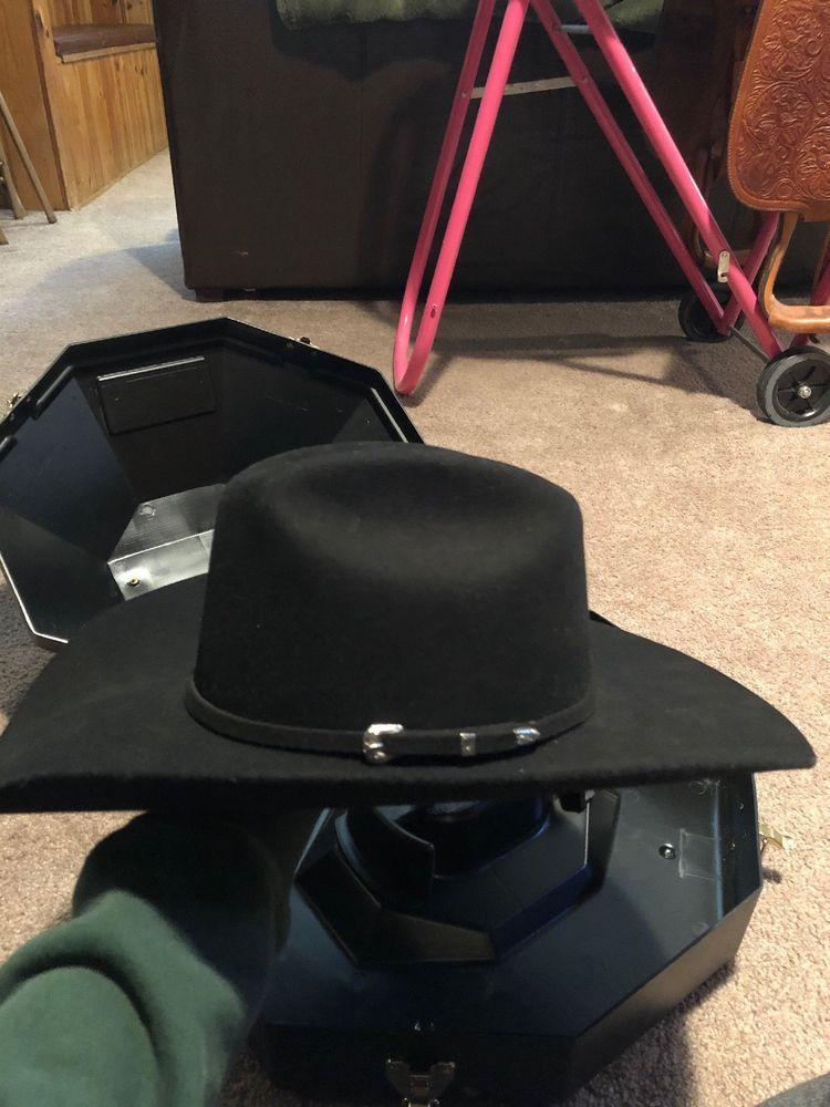 Cowboy Hat Serratelli 5x Sz 6 7 8 With Hat Box Cowboy Hats Hats Hat Box