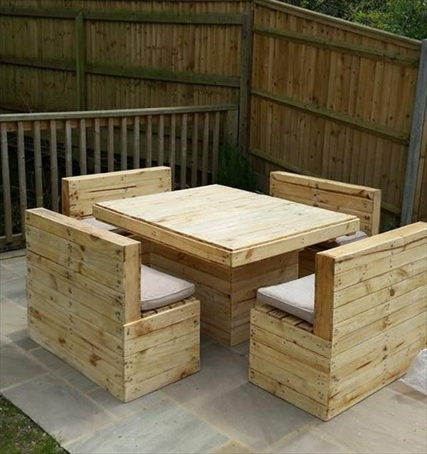 Pallet Table And Chairs Outdoor Space Pinterest Pallet