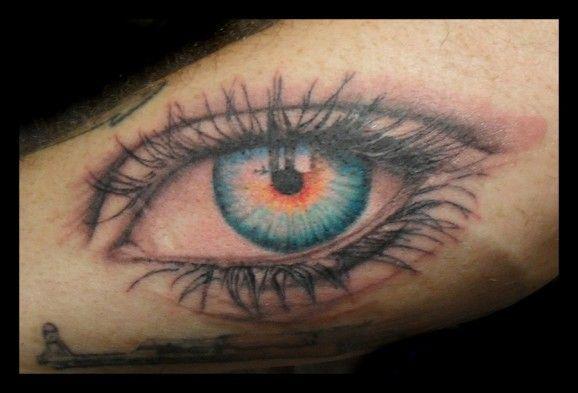 """Eye see the truth of 9/11"" tattoo by Jason Hanks of Surreal Skin, Washington."