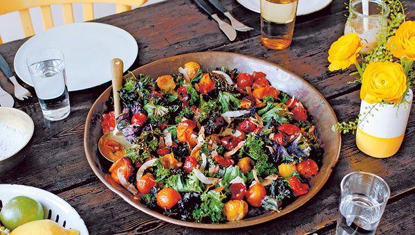 rezept von anna jones warmer gr nkohl salat healthy. Black Bedroom Furniture Sets. Home Design Ideas