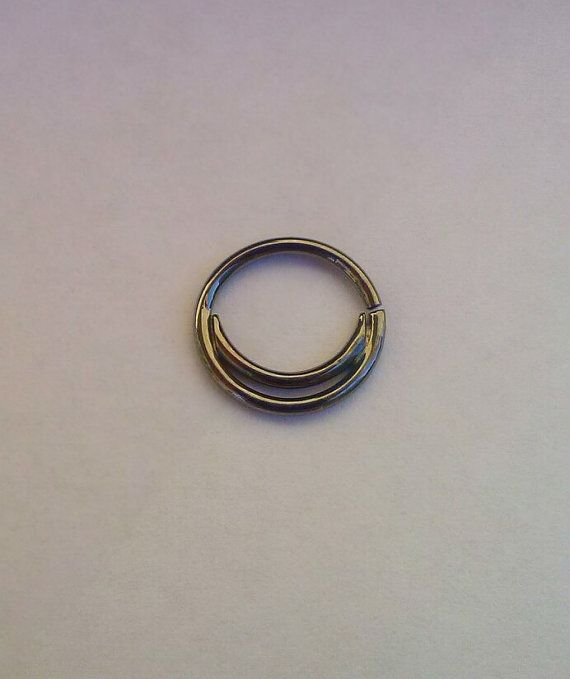 6b4b2a5ae Double Septum Ring - Septum Ring - Custom Nose Ring, Sterling Silver ...