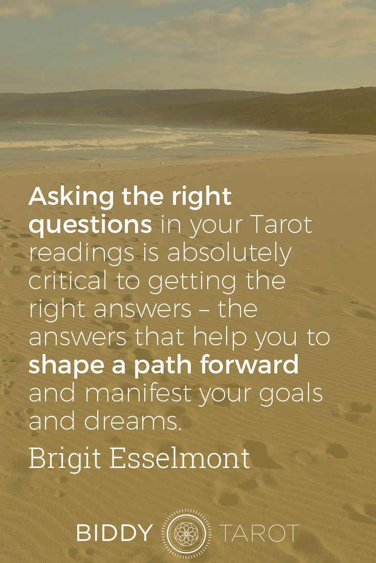 Do you know how to ask the right questions in tarot