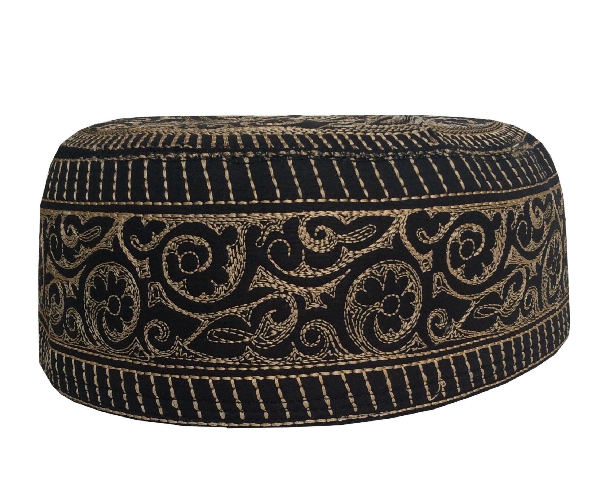 Pin On Eid Namaz Machin Embroidery Round Kuffi Hats