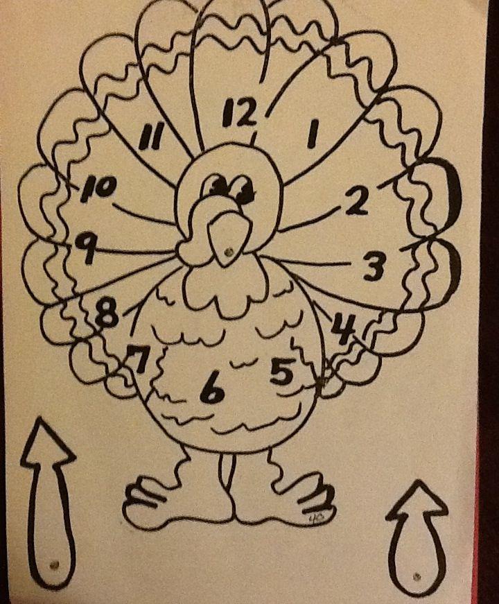 Create a Turkey Clock for Thanksgiving.