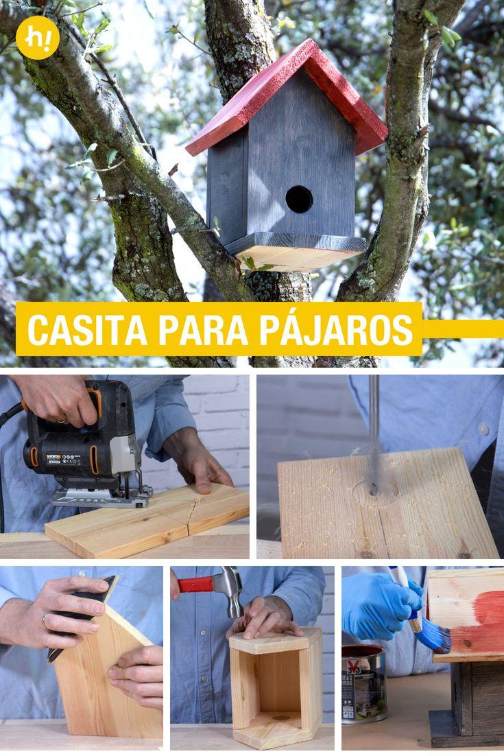 C mo hacer una casita para p jaros ideas para la terraza - Como hacer una caseta de madera para el jardin ...