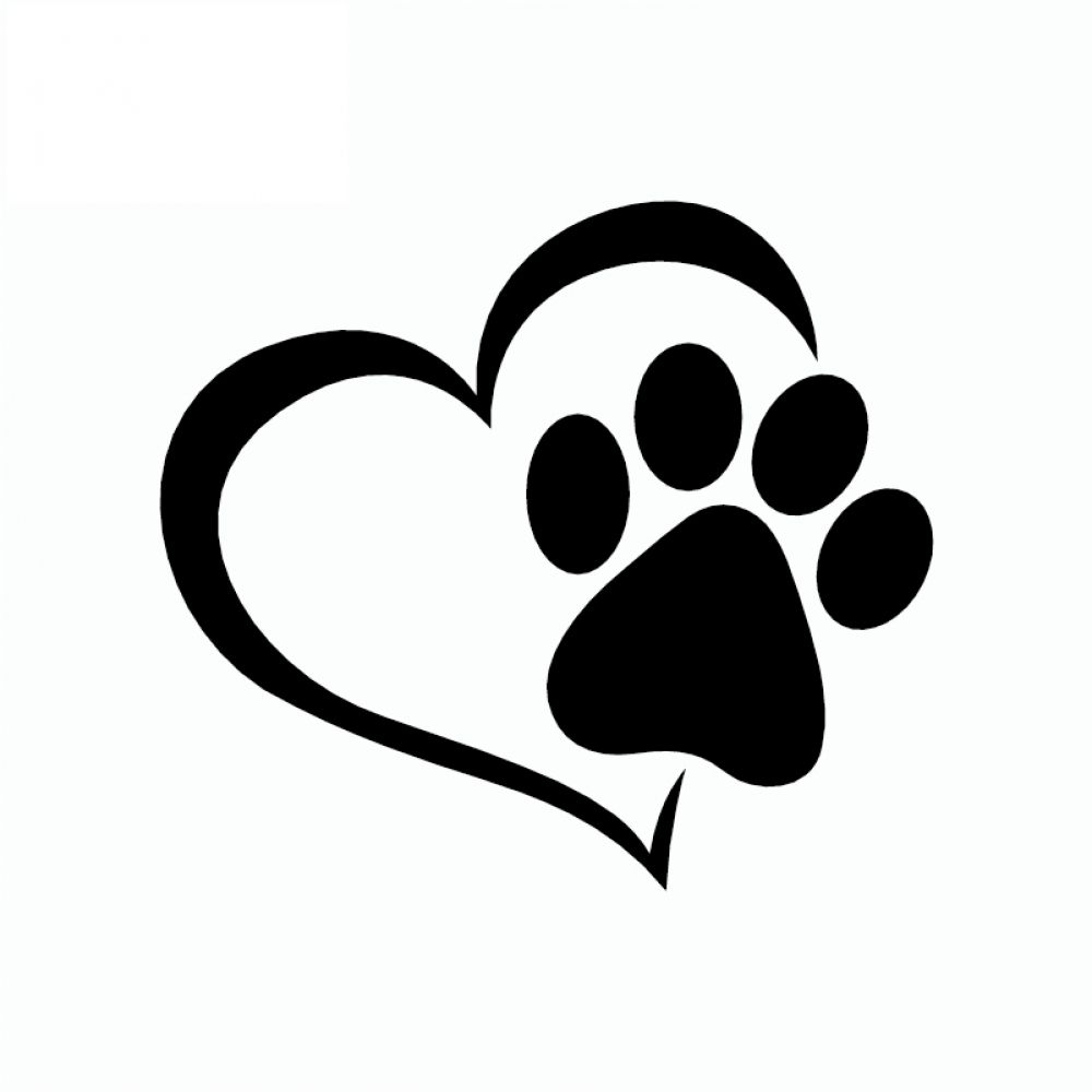 40+ Dog paw print heart clipart information