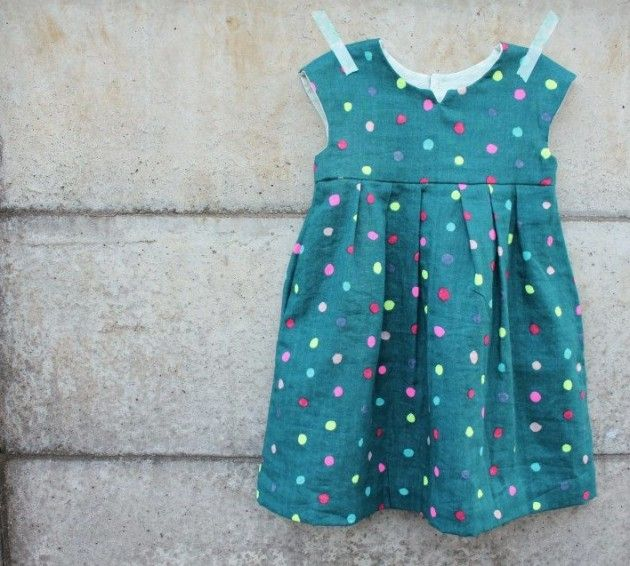 Nani IRO Geranium Dress - Made By Rae pattern | Kiddo... Sew Cute ...