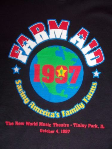 Farm-Aid-T-Shirt-SZ-XL-Black-Nelson-Mellencamp-Young-Matthews-Band-Beck-VTG-1997