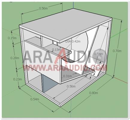 Skema Box Subbass 18 Inch Ara Audio Desain Audio Monitor
