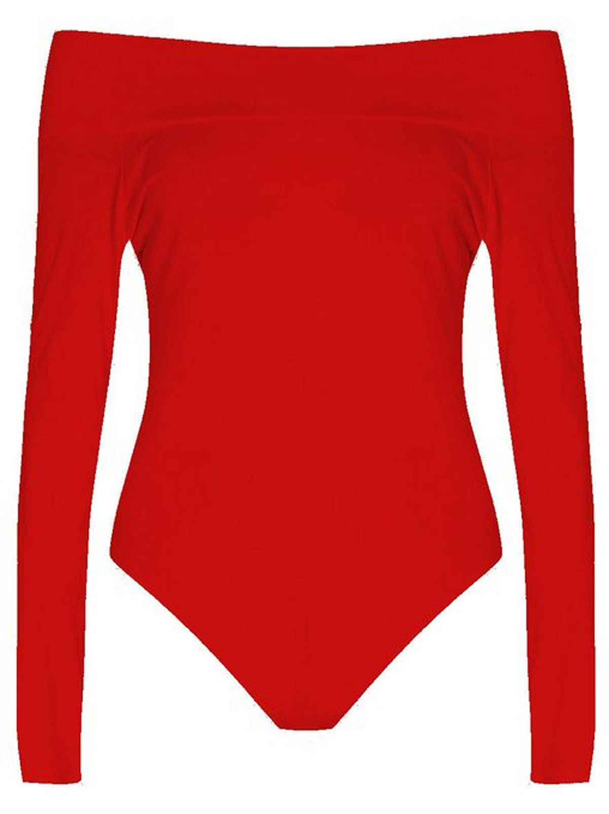 db2ebb95a30 Girls Walk Womens Plain Long Sleeves Off Shoulder Stretchy Bodysuit Leotard  Top -- To view further for this item