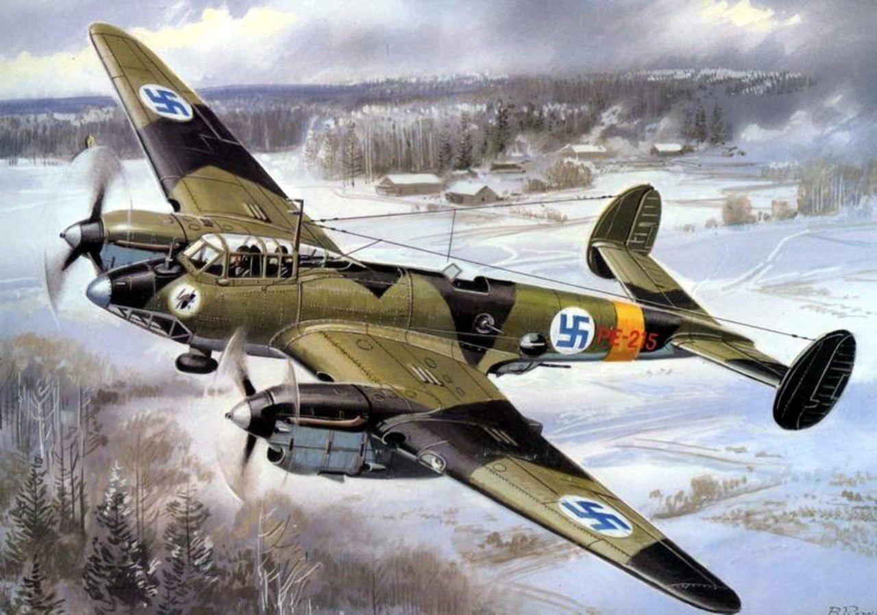 Пе-2 ранних серий в строю финских ВВС | Finnish air force ...