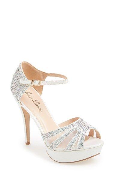 Lauren Lorraine 'Vinnie' Crystal Mesh Sandal (Women) available at #Nordstrom