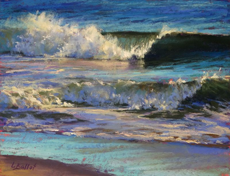 Turquoise Hour By Lana Ballot Pastel 8 X 10 In 2020 Pastel Landscape Ocean Painting Seascape
