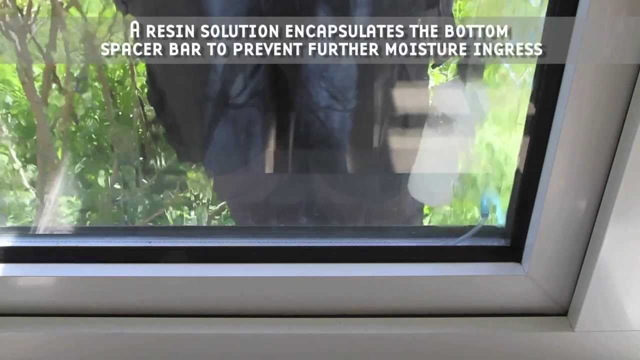 Condensation removal from double glazed windows double