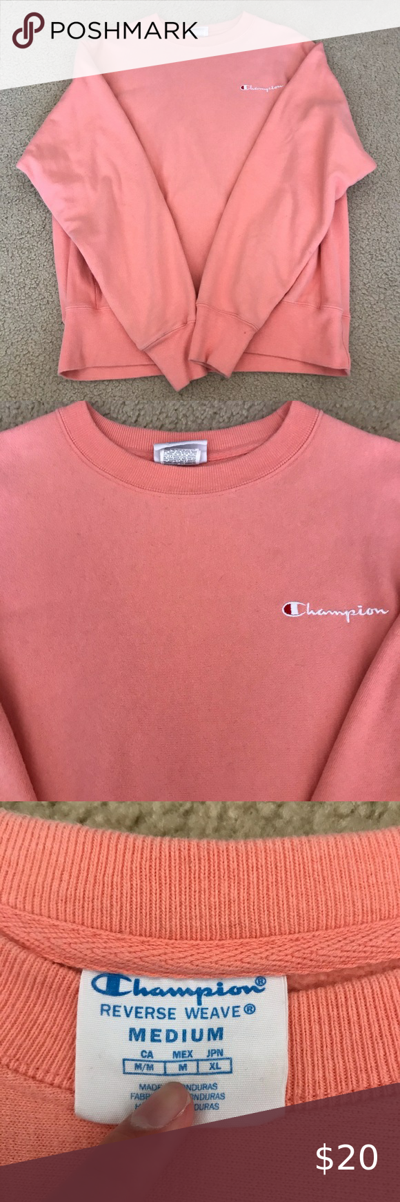 Cute Coral Pink Champion Sweatshirt Champion Sweatshirt Pink Champion Sweatshirt Sweatshirts [ 1740 x 580 Pixel ]