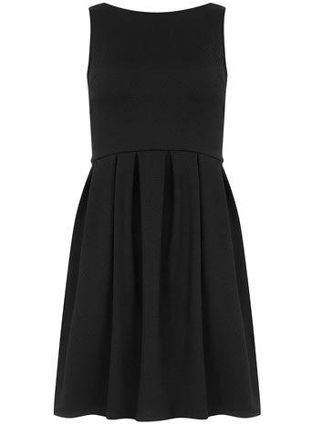 Black waffle prom dress