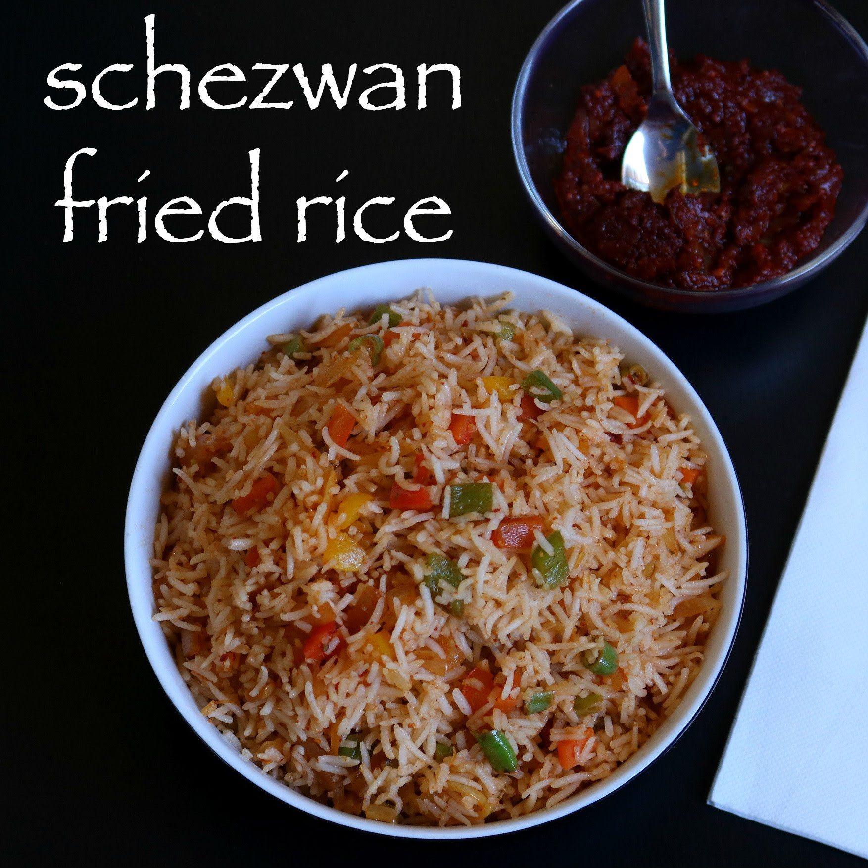 schezwan fried rice easy homemade schezuan fried rice in 2019 chicken noodle recipes indian on hebbar s kitchen chicken biryani id=85265