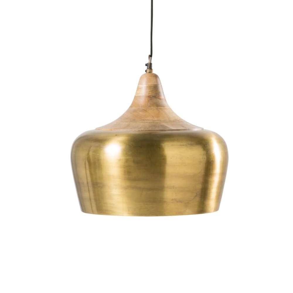 Hangelampe Aus Goldfarbenem Metall Und Mangoholz Famara Maisons Du Monde Mangoholz Lampe Hange Lampe