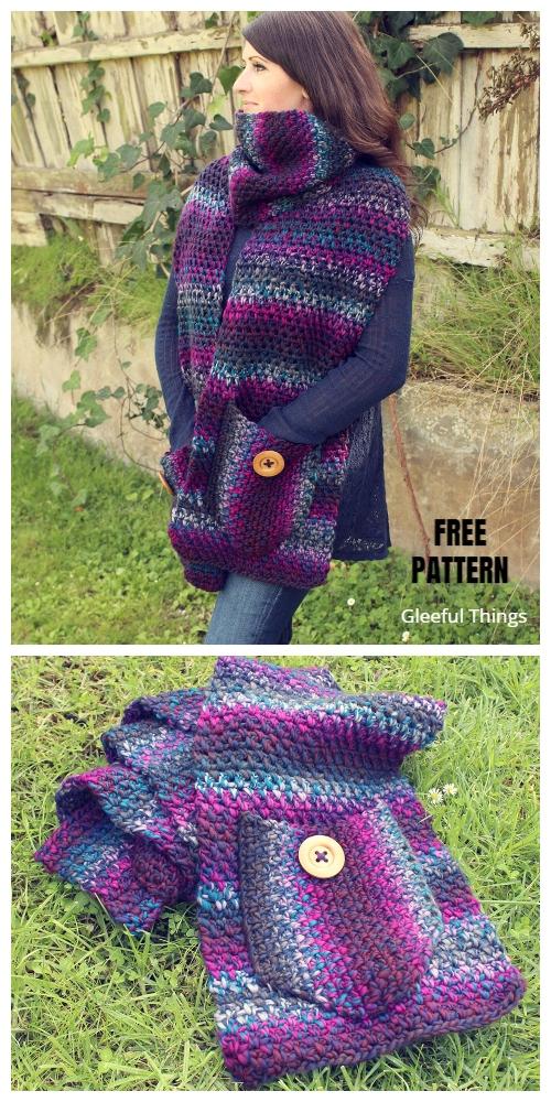 Pocket Scarf Shawl Free Crochet Pattern Paid In 2020 Crochet Shawl Pattern Free Shawl Crochet Pattern Crochet Shrug Pattern