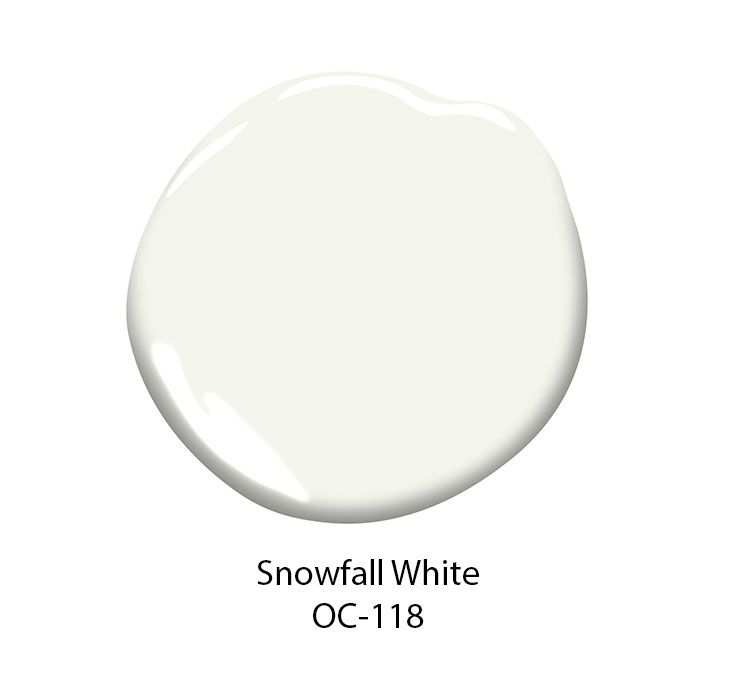 Best Off White Paint Colors: Snowfall White OC-118 Is Part Of The Off-White Color