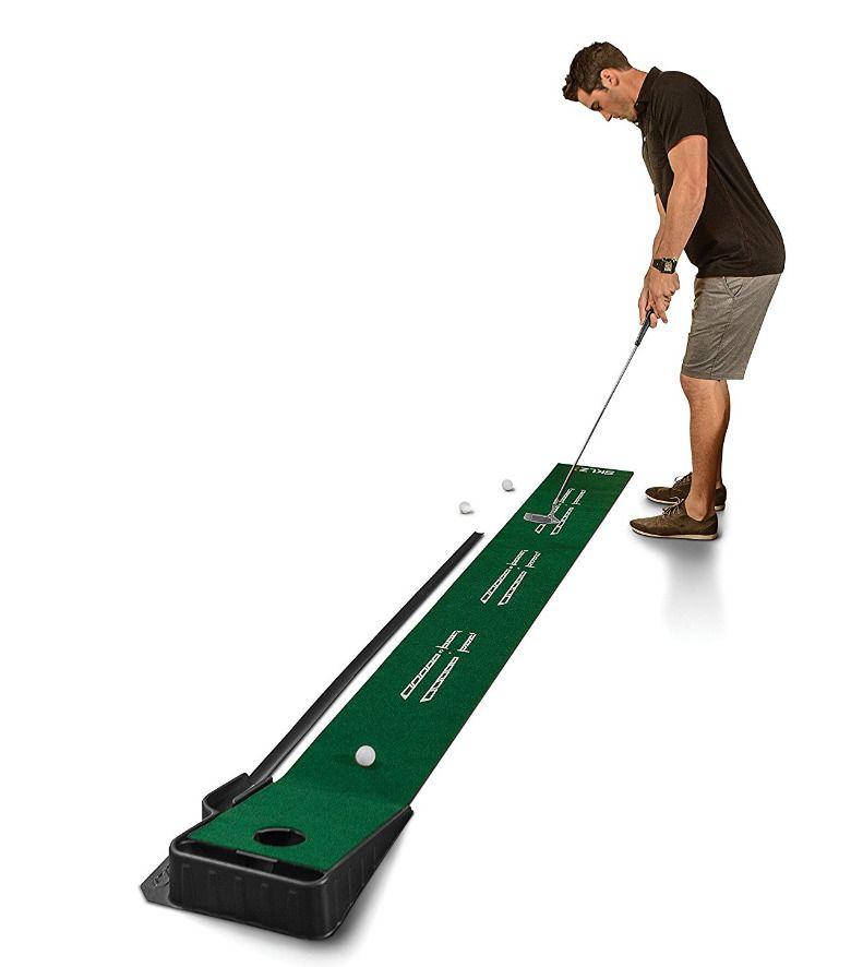 Sklz Accelerator Pro Indoor Putting Green With Ball Return 9 Feet X 16 25 Inch Sklz Indoor Putting Green Golf Putting Green Golf Training