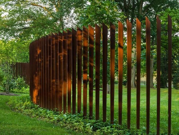 Beautiful Fence Designs Blending Various Materials For Unique Modern Walls Fence Design Modern Landscaping Fence Landscaping