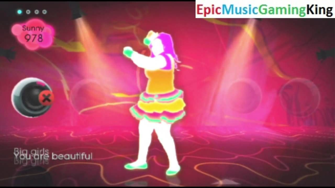 """Just Dance 2 Gameplay - """"Big Girl (You Are Beautiful)"""" - High Score Of 1158 Points This video features my Just Dance 2 gameplay as I dance to the """"Big Girl (You Are Beautiful)"""" Song sung by Mika and achieve a high score of 1158 points. The objective of this rhythm game is to mimic the moves of the dancer featured in the on-screen music video as accurately as possible in order to make an earnest attempt to earn the highest possible score."""