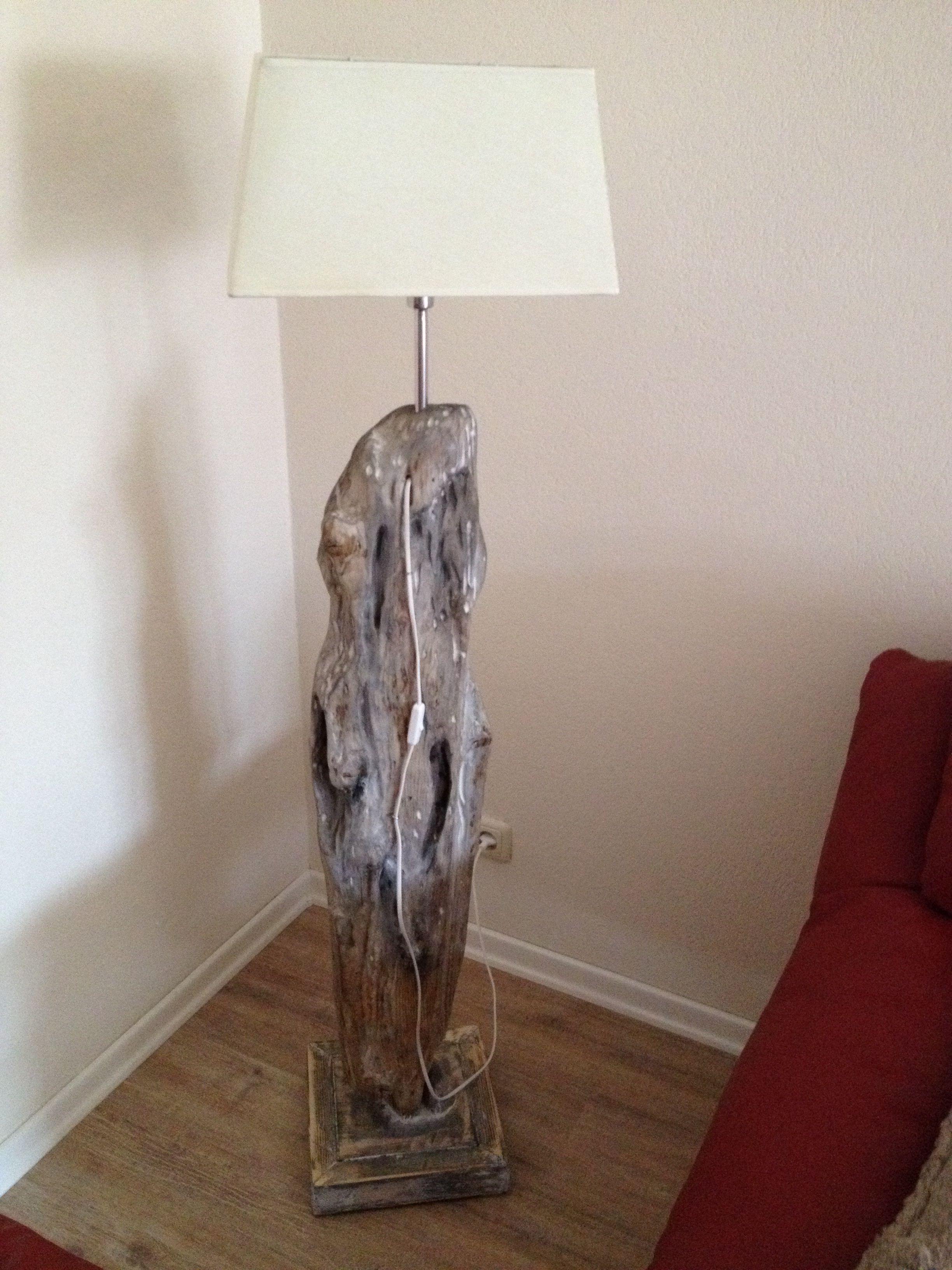 Stehlampe Treibholz Selber Gebaut Stehlampe Holz Stehlampe