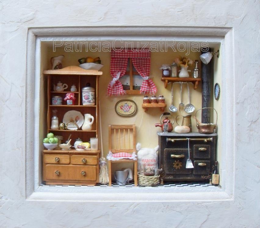 Cocina con Miniaturas   bebe   Pinterest   Miniaturas, Cocinas y Cuadro