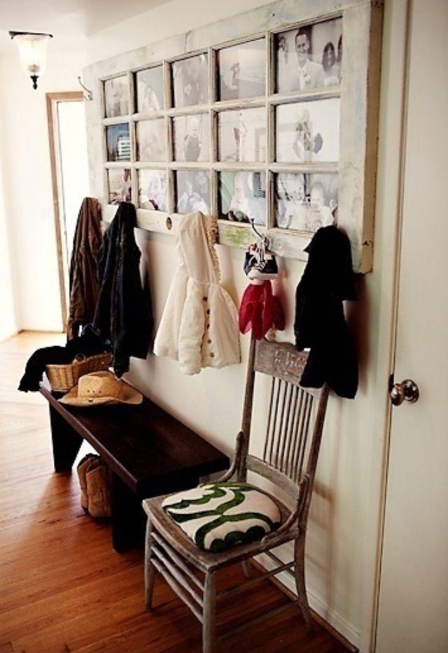 Old Door photo frame u0026 coat hanger