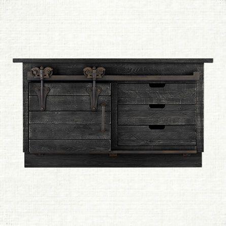 Baumann 64 Quot Media Console In Black Arhaus Furniture