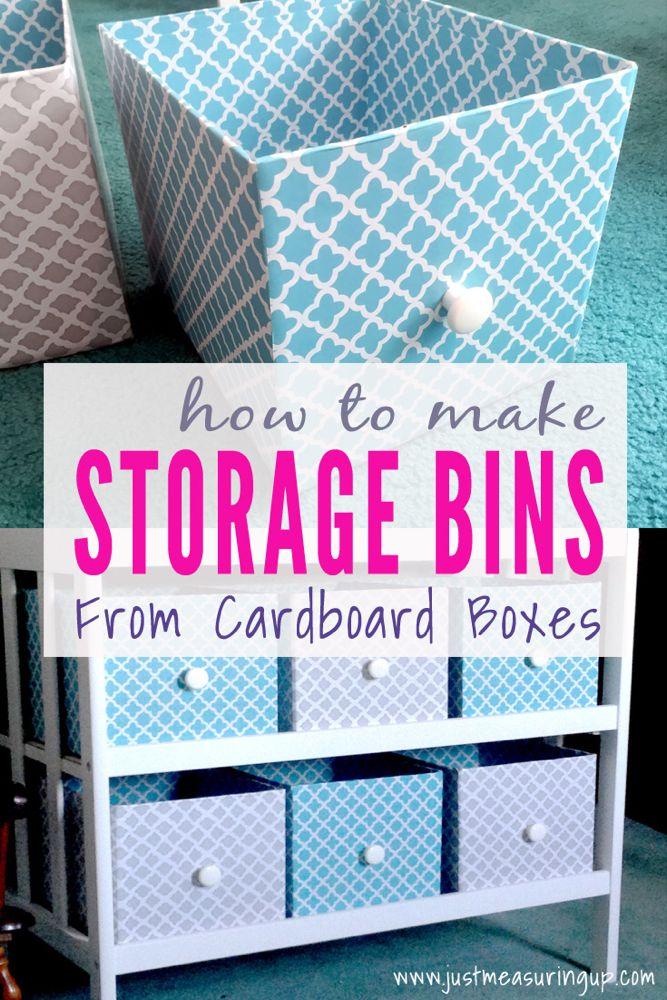 Making Customized Storage Bins from Cardboard Boxes | DIY Storage Bins