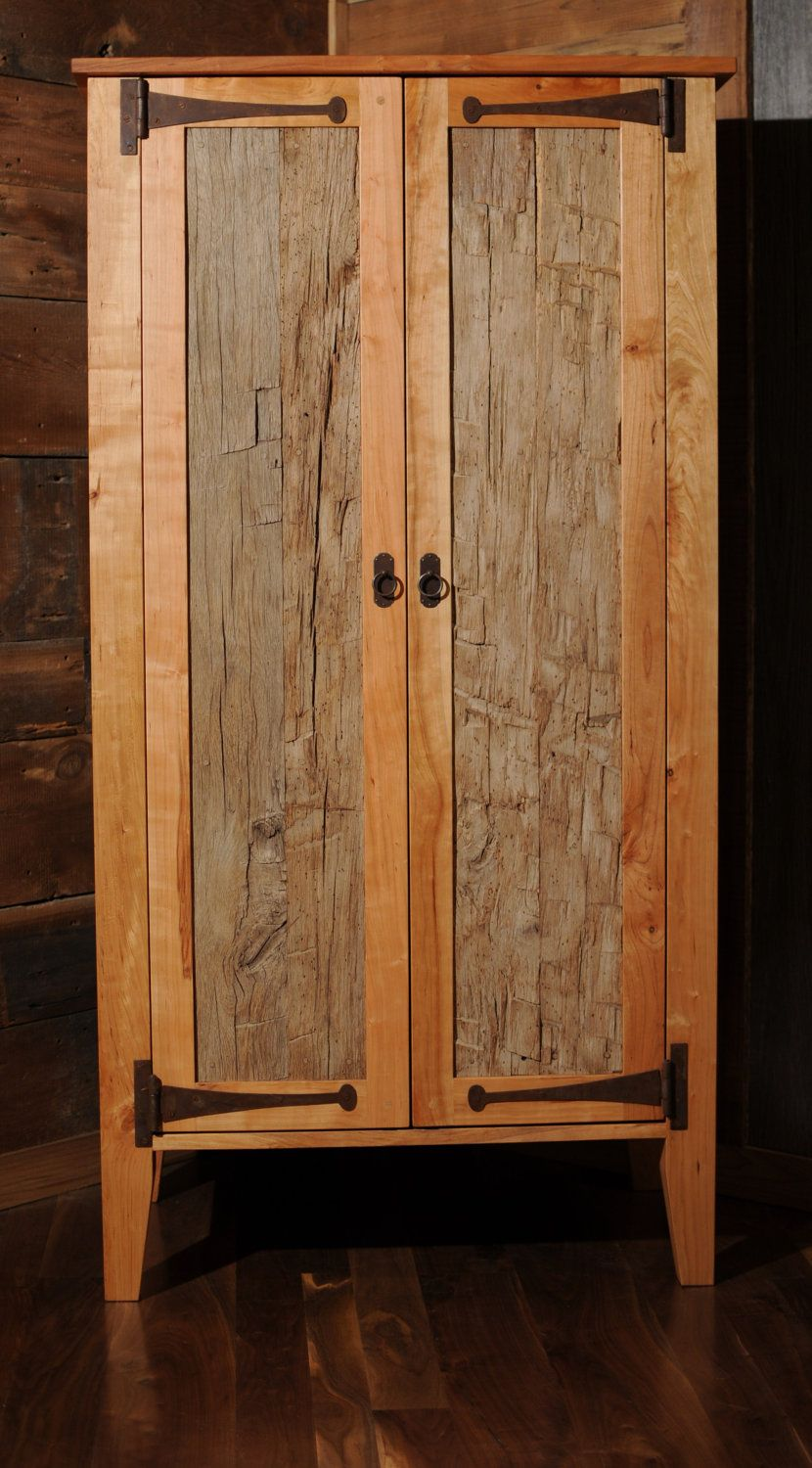 reclaimed wood armoire wardrobe closet etsy dwell on. Black Bedroom Furniture Sets. Home Design Ideas