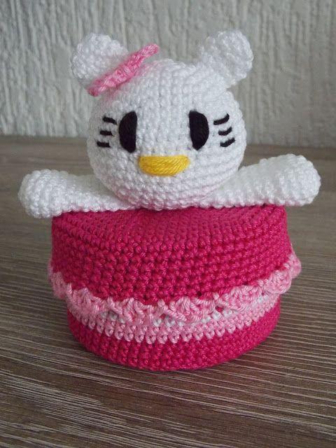 Hello Kitty doosje (met gratis patroon van Hello Kitty) / with free ...