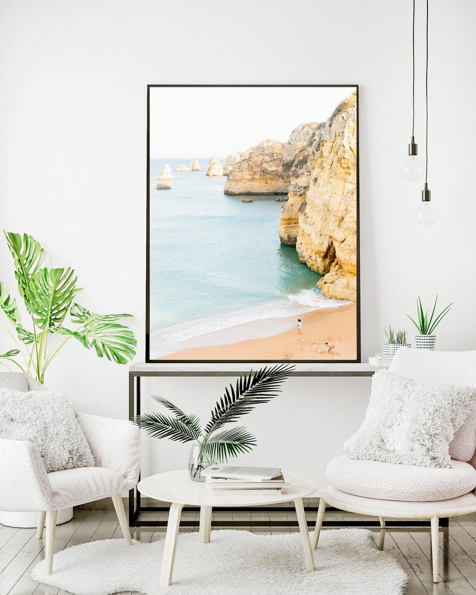 Love this lagos portugal beach coastline print ocean wallart homedecor bedroomwalldecorideasart also rh pinterest