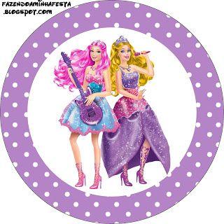 Imprimibles Barbie Princesa y Pop Star 2  Ideas y material