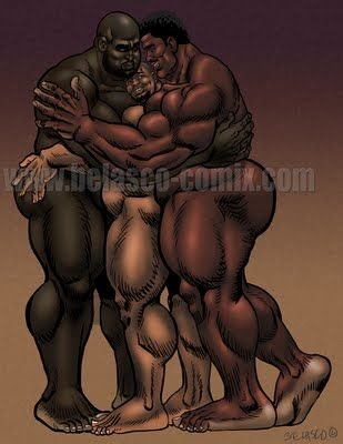 Negro Bear E Peloso Fuks Gay
