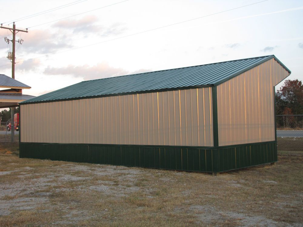 16x36 Run In Shelter Loafing Shed With Steel Truss And Metal